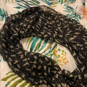 Cat patterned scarf